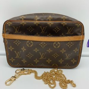 💯Auth Louis Vuitton Clutch Crossbody